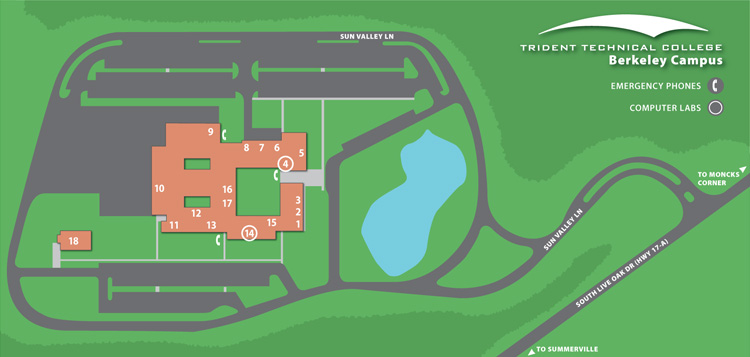 Berkeley Campus Map Trident Technical College
