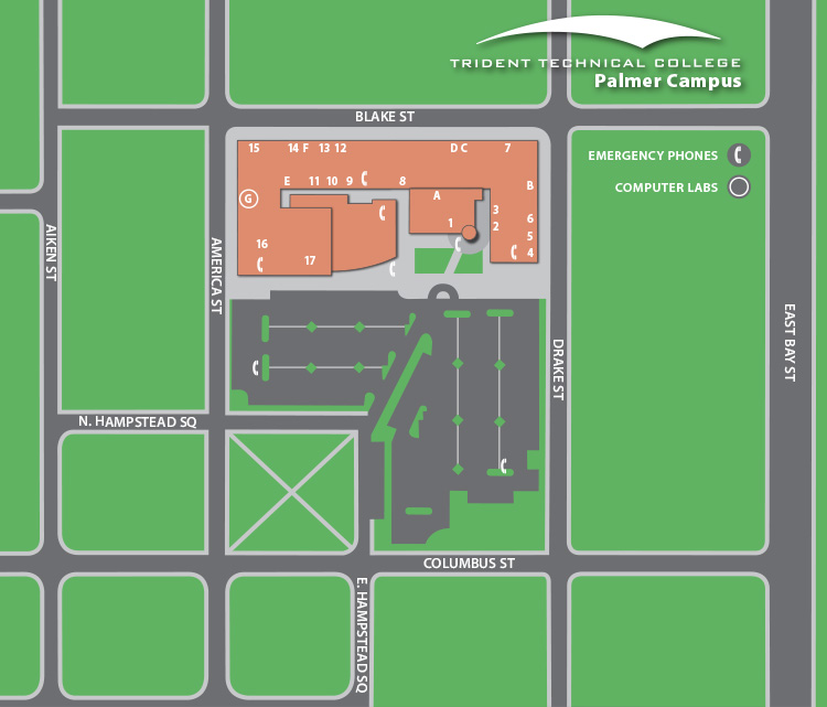 Palmer Campus Map   Trident Technical College