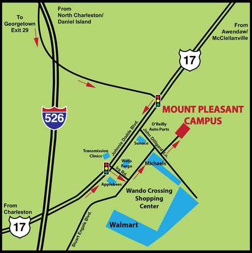 Mount Pleasant Campus Street Map Trident Technical College