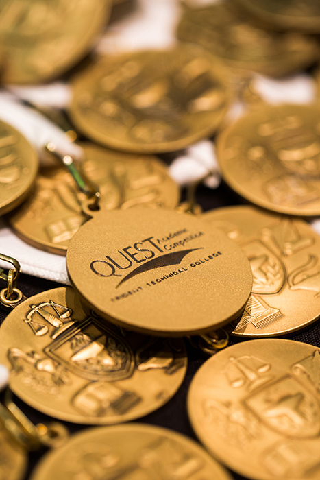 Quest Academic Competition Medals