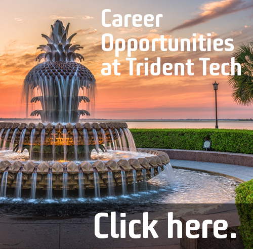 Click here for career opportunitues are Trident Tech
