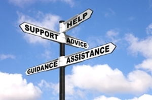 Support Counseling Help Assistance Sign